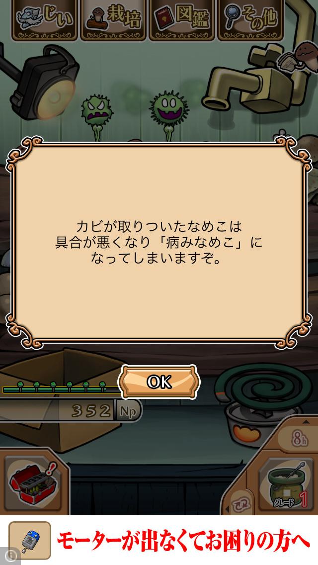 「カビ」NEOなめこ栽培キット